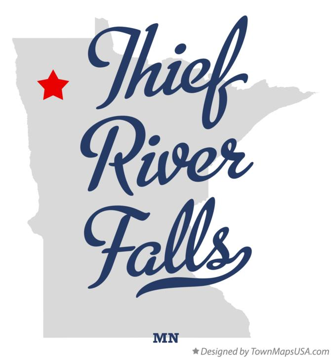 Map of Thief River Falls Minnesota MN