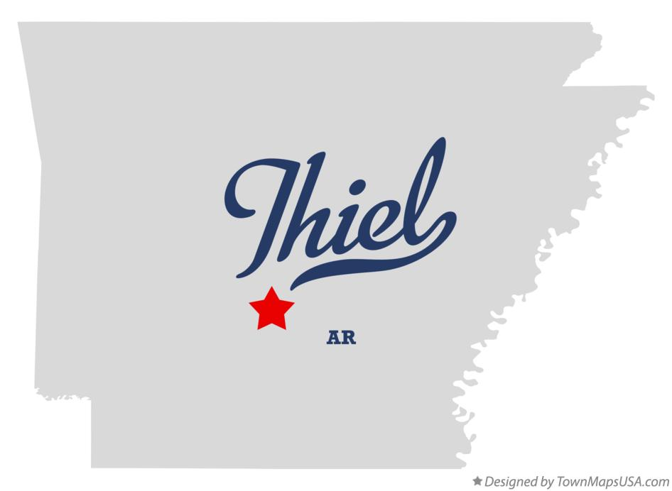 Map of Thiel Arkansas AR