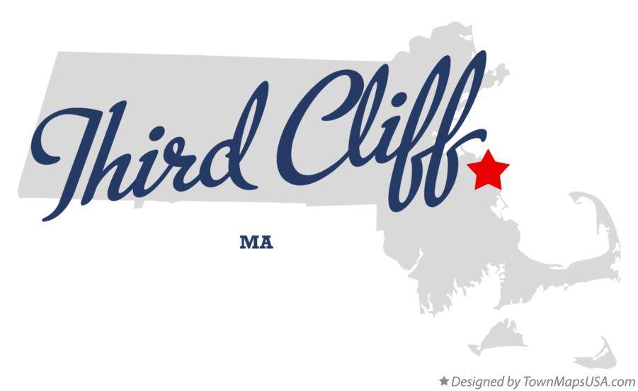 Map of Third Cliff Massachusetts MA