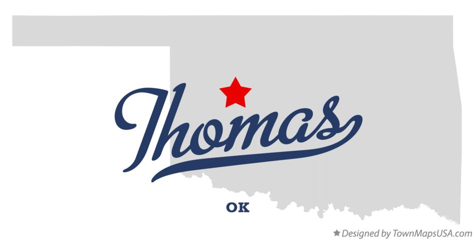 Map of Thomas Oklahoma OK