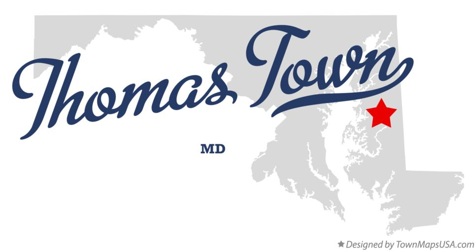 Map of Thomas Town Maryland MD