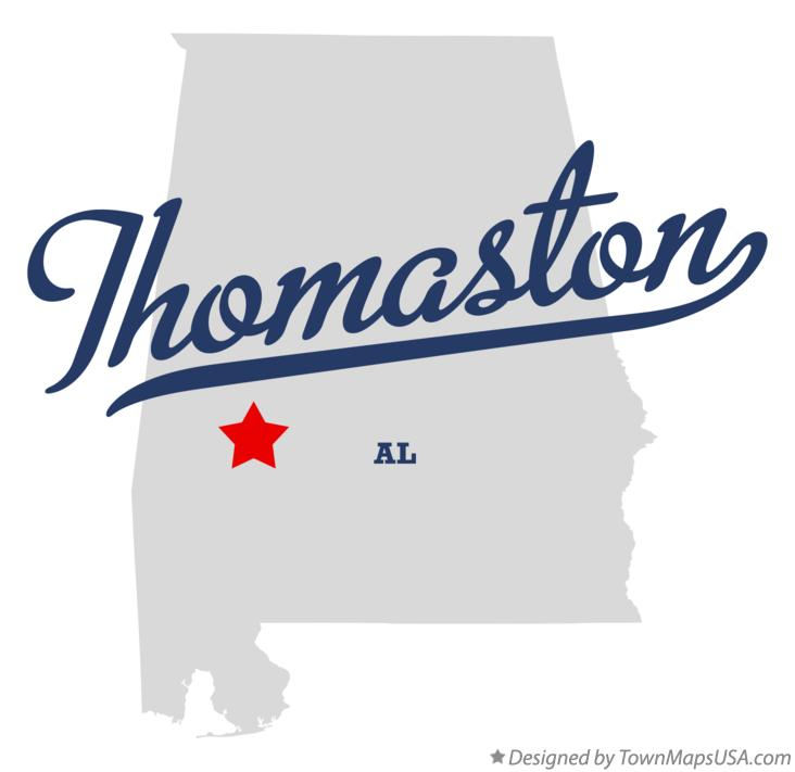 Map of Thomaston Alabama AL