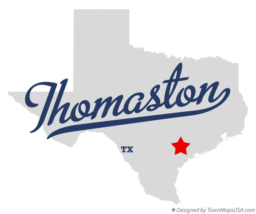 Map of Thomaston Texas TX
