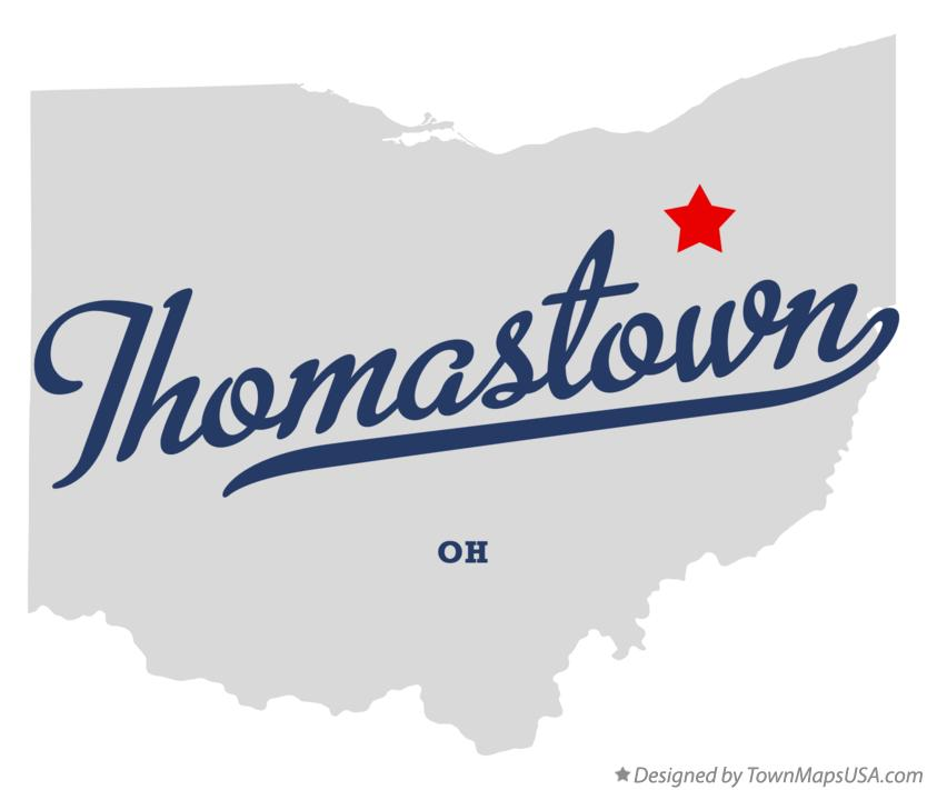 Map of Thomastown Ohio OH