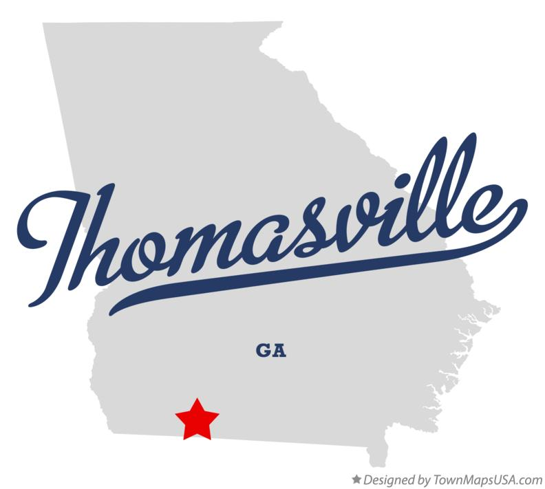 Map of Thomasville Georgia GA