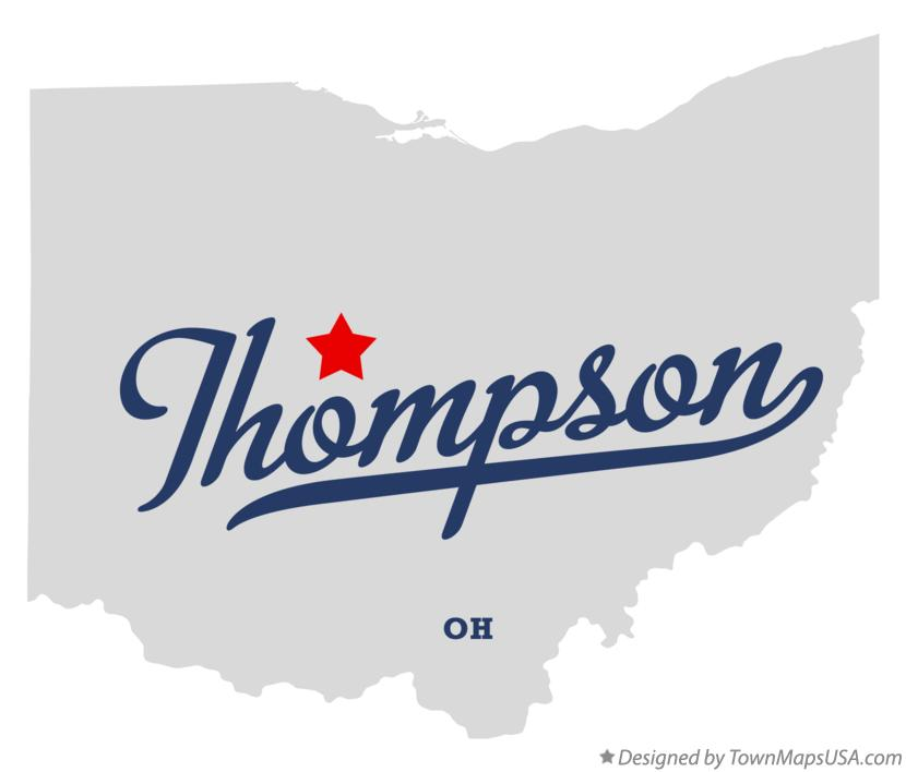 Map of Thompson Ohio OH