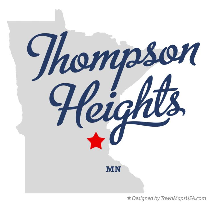 Map of Thompson Heights Minnesota MN