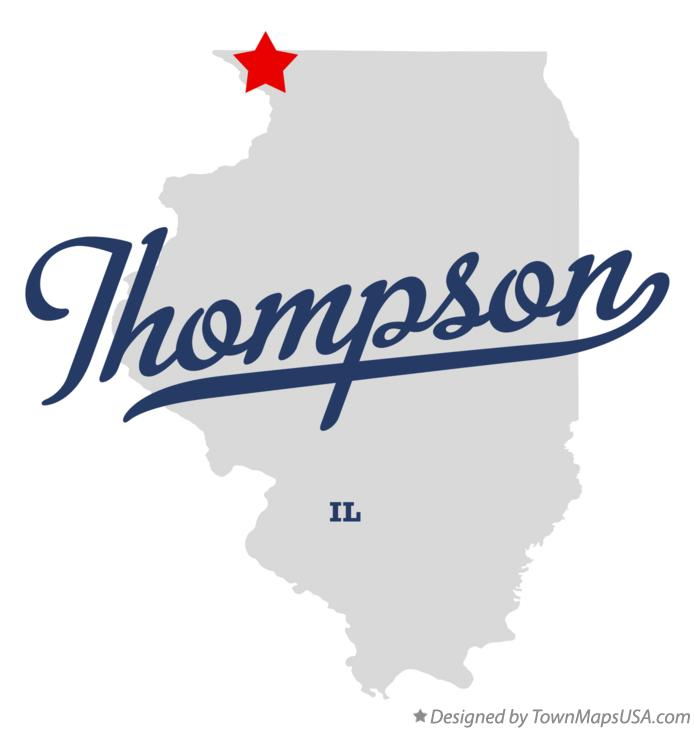 Map of Thompson Illinois IL