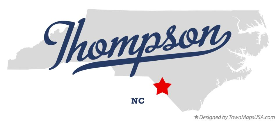 Map of Thompson North Carolina NC