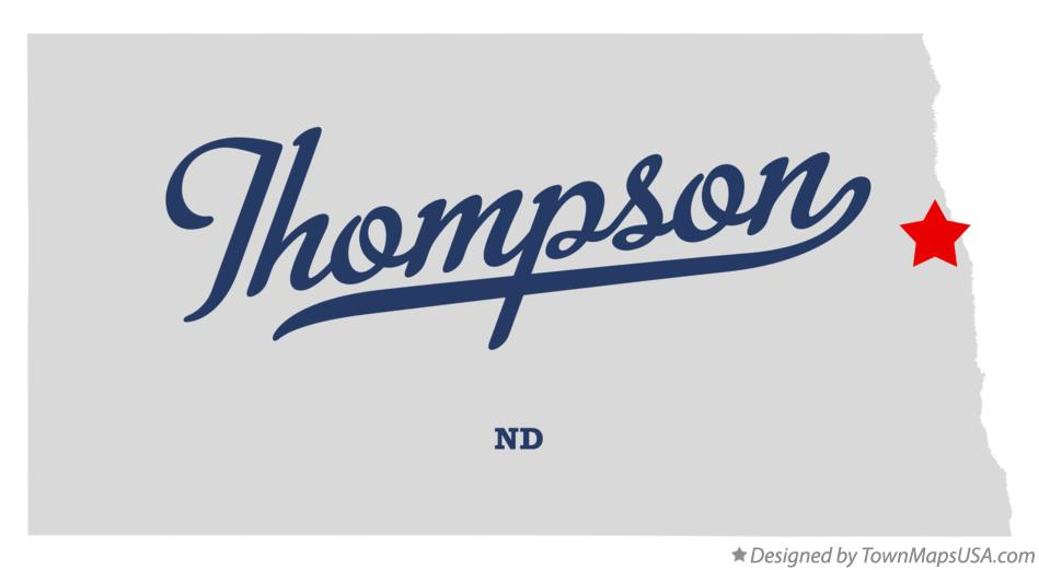 Map of Thompson North Dakota ND