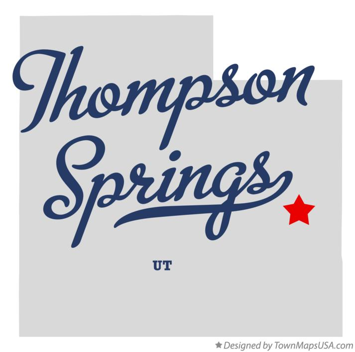 Map of Thompson Springs Utah UT
