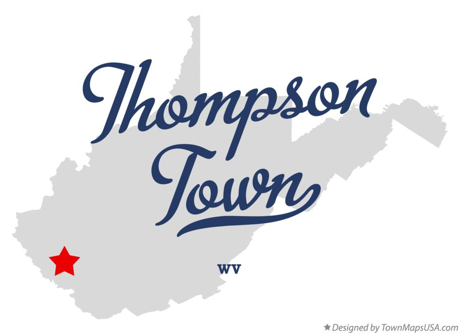 Map of Thompson Town West Virginia WV