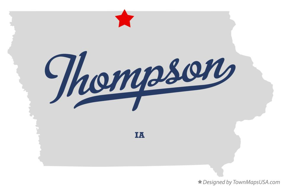 Map of Thompson Iowa IA
