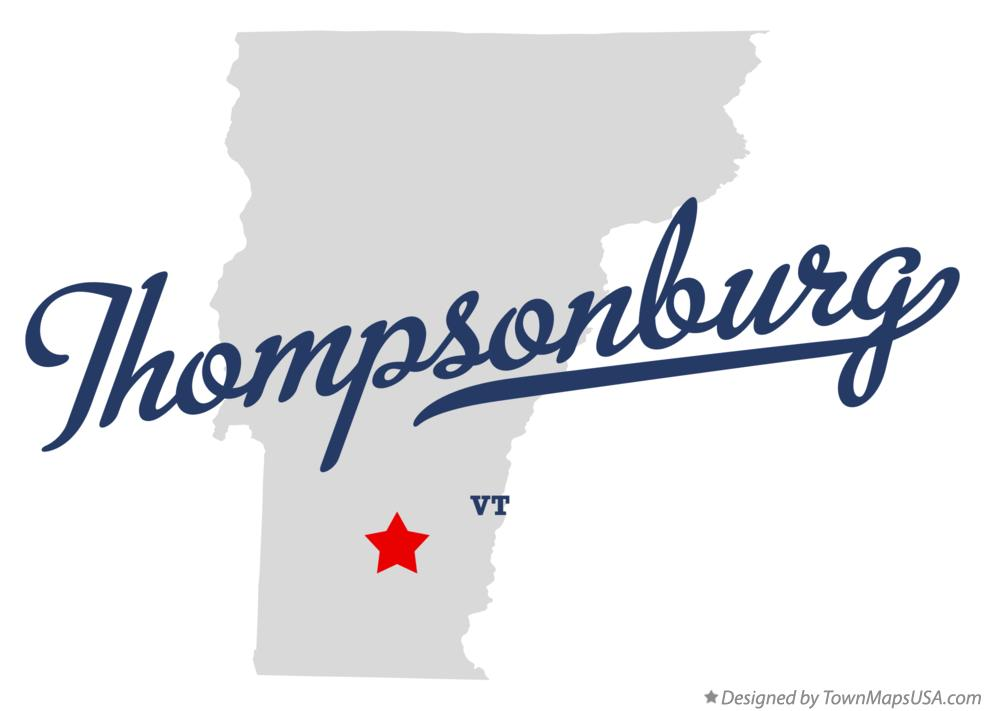 Map of Thompsonburg Vermont VT