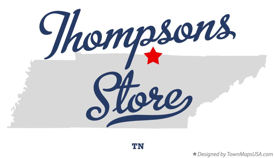 Map of Thompsons Store Tennessee TN