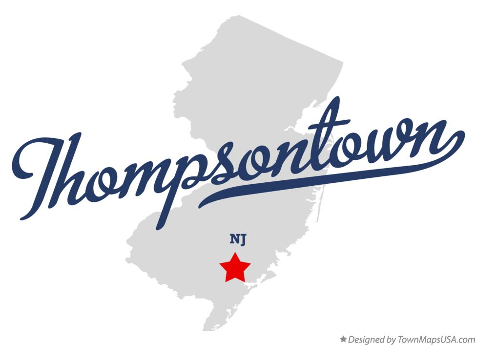 Map of Thompsontown New Jersey NJ