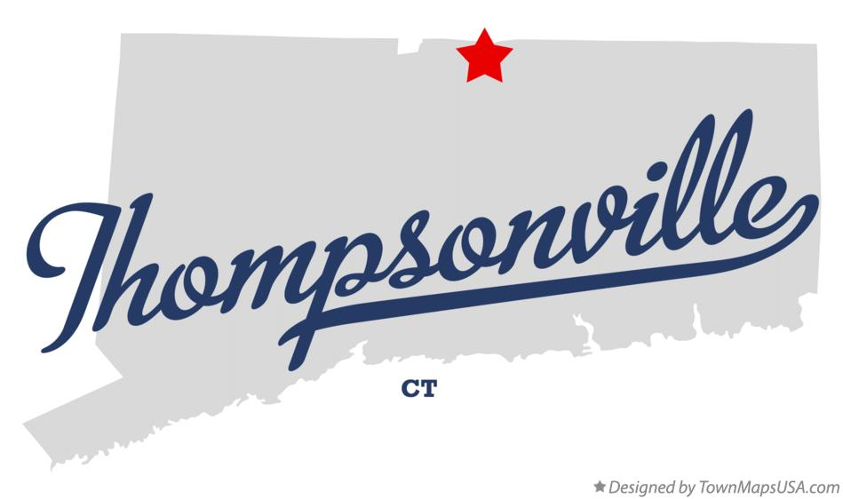Map of Thompsonville Connecticut CT
