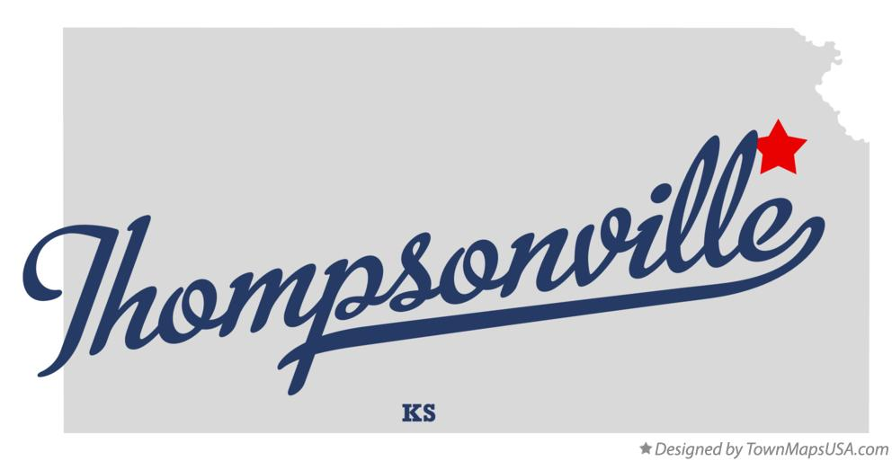Map of Thompsonville Kansas KS