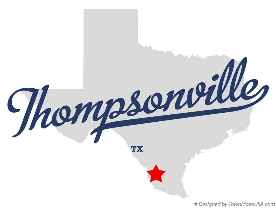 Map of Thompsonville Texas TX