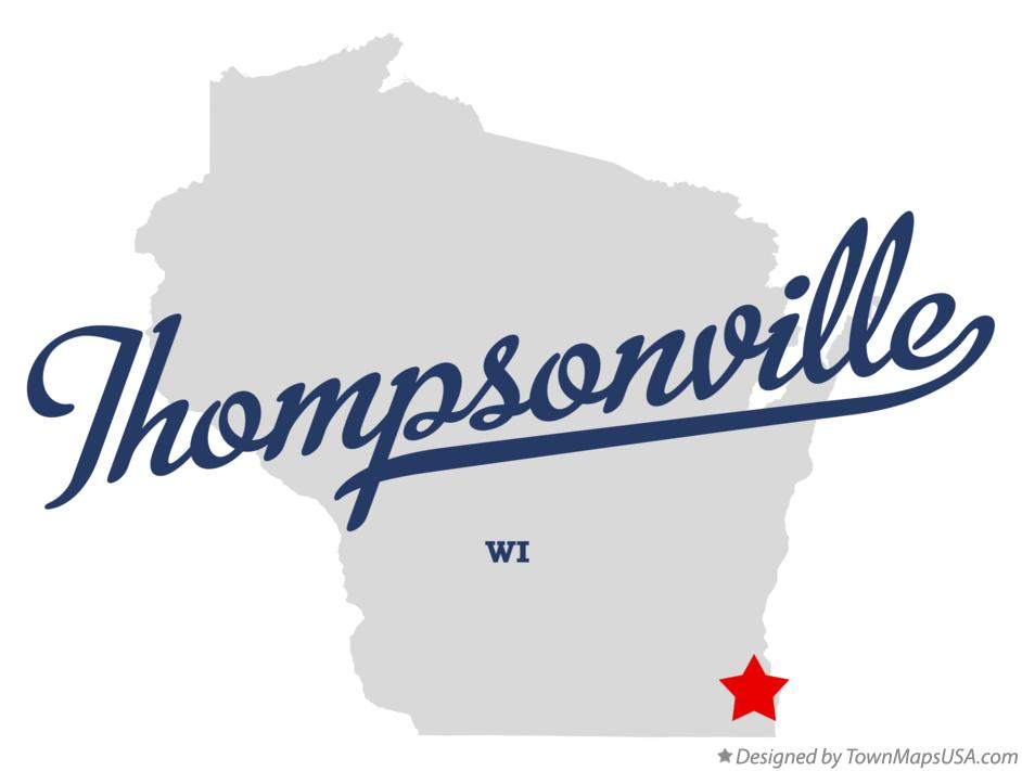 Map of Thompsonville Wisconsin WI