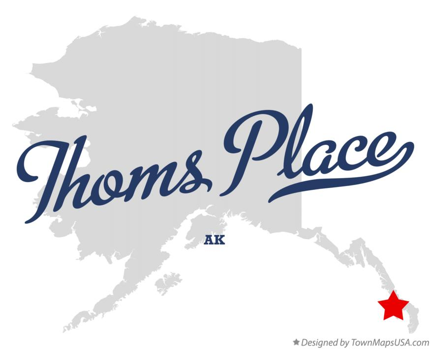 Map of Thoms Place Alaska AK