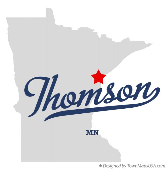 Map of Thomson Minnesota MN