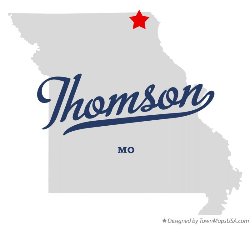 Map of Thomson Missouri MO