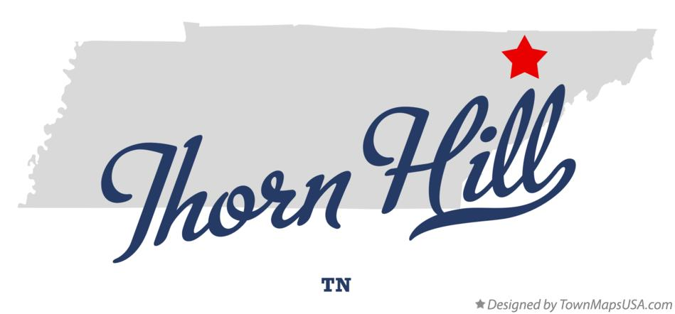 Map of Thorn Hill Tennessee TN