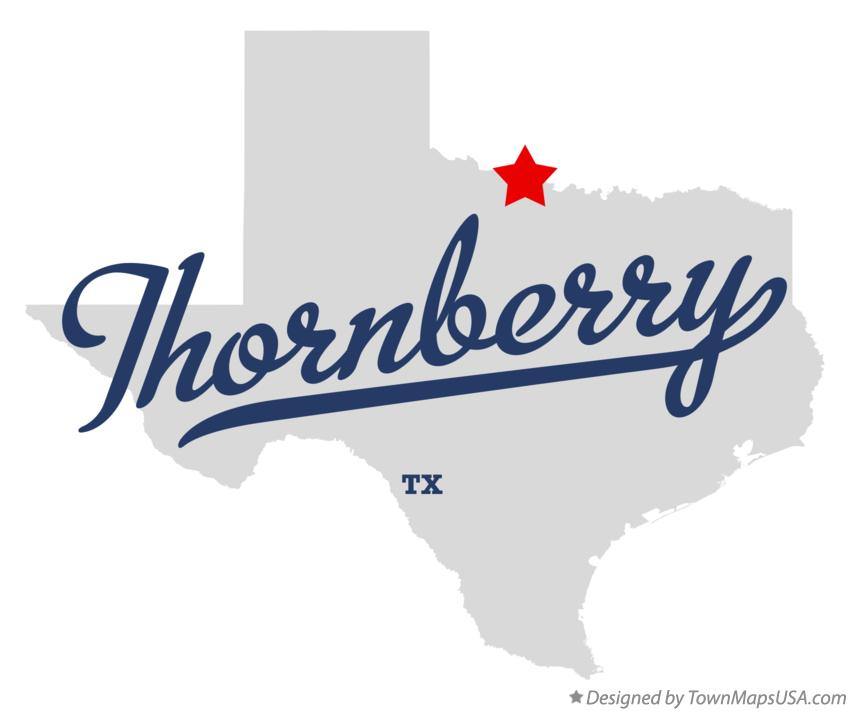 Map of Thornberry Texas TX