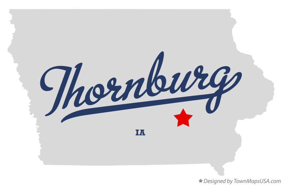 Map of Thornburg Iowa IA