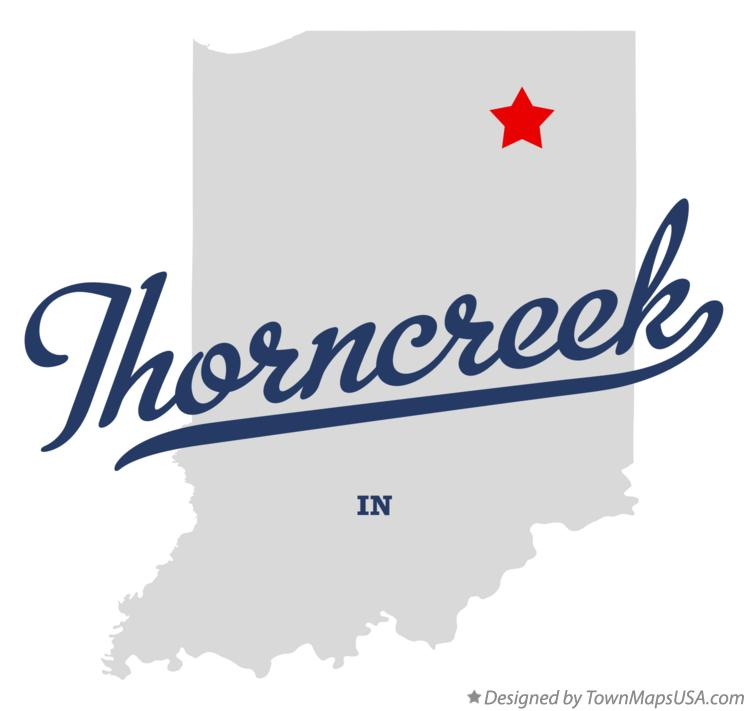 Map of Thorncreek Indiana IN