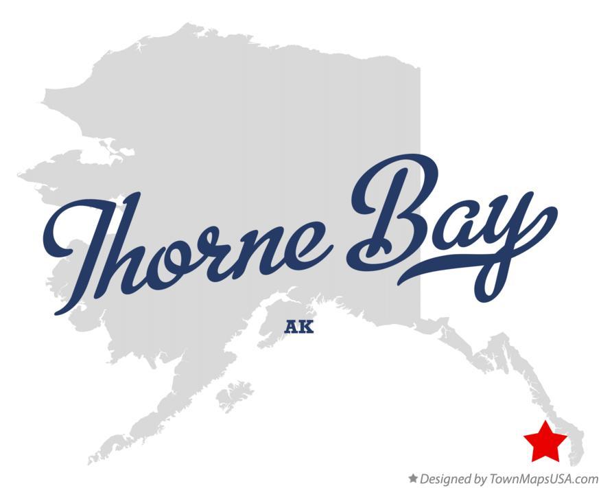 thorne bay alaska map Map Of Thorne Bay Ak Alaska