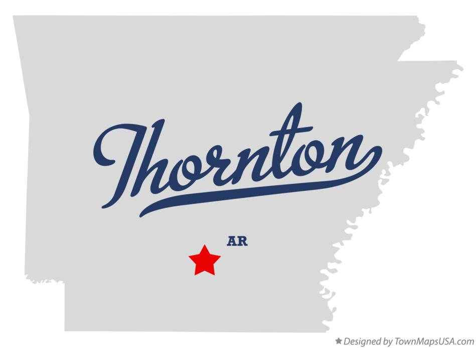 Map of Thornton Arkansas AR