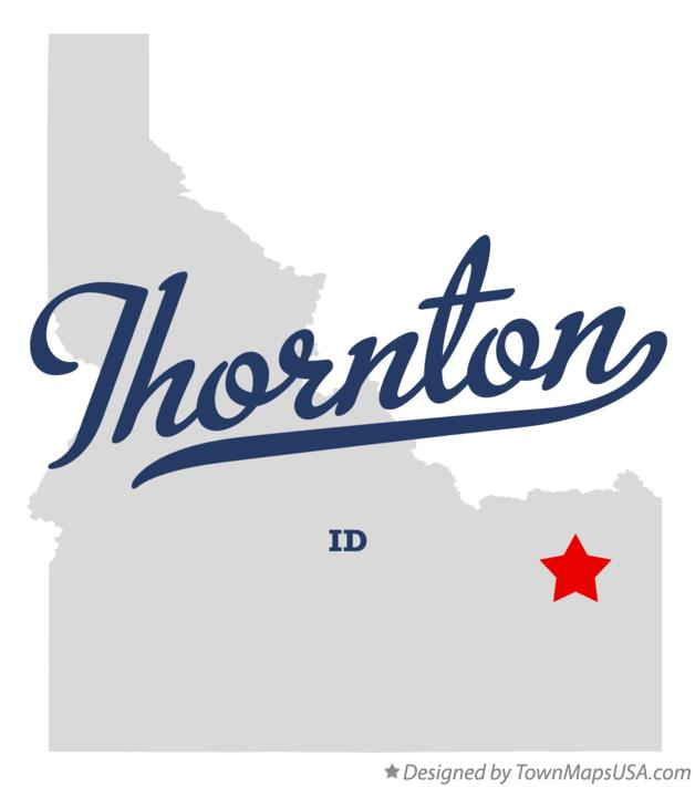 Map of Thornton Idaho ID