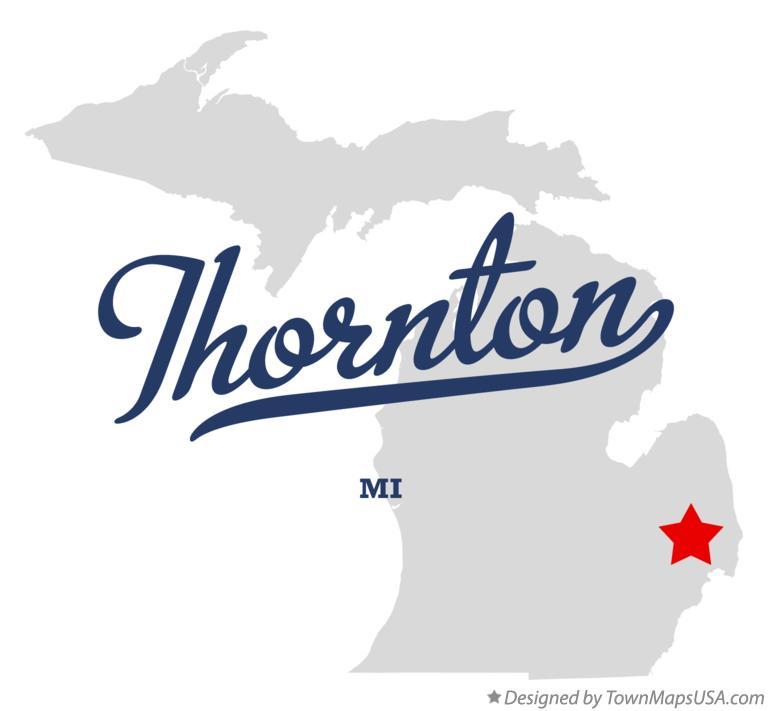 Map of Thornton Michigan MI