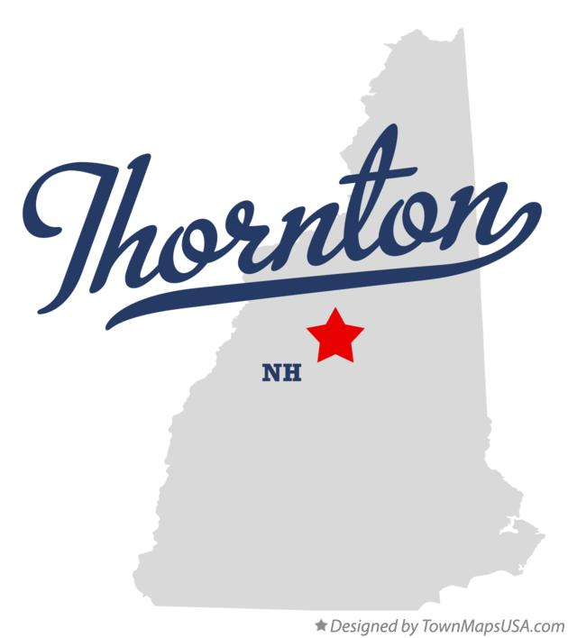 Map of Thornton New Hampshire NH