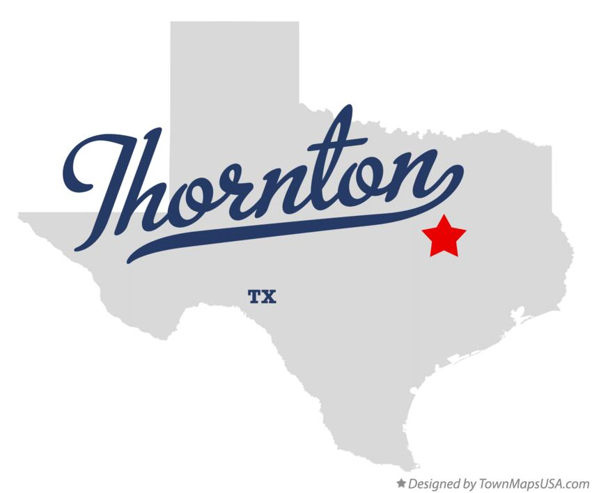 Map of Thornton Texas TX