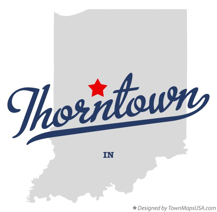 Map of Thorntown Indiana IN