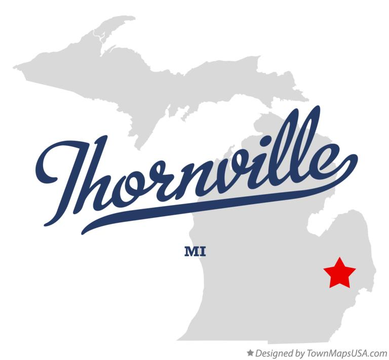 Map of Thornville Michigan MI