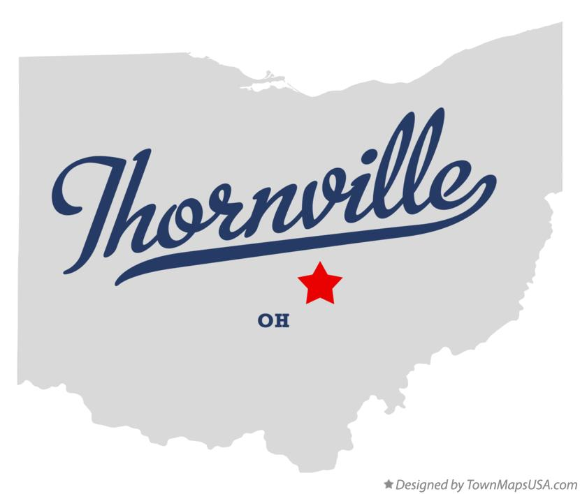 Map Of Thornville Oh Ohio