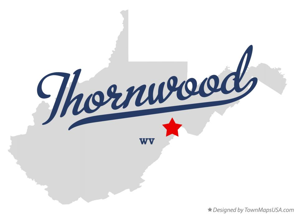 Map of Thornwood West Virginia WV