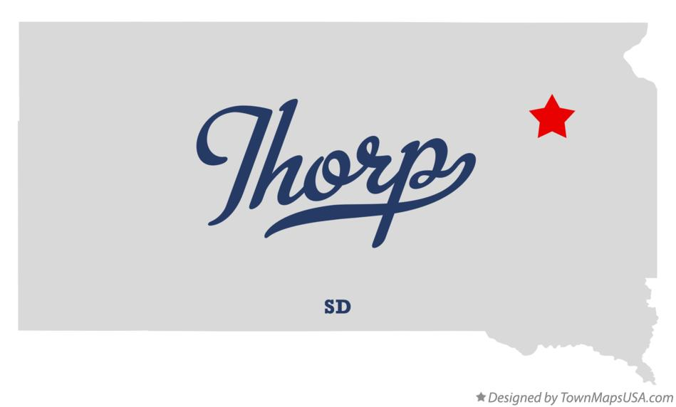 Map of Thorp South Dakota SD