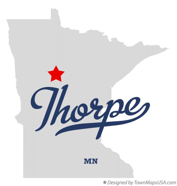 Map of Thorpe Minnesota MN