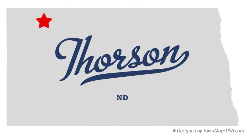 Map of Thorson North Dakota ND