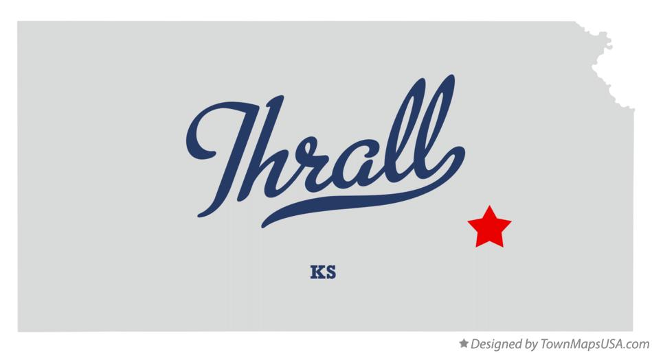 Map of Thrall Kansas KS