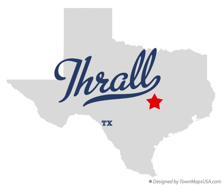 Map of Thrall Texas TX