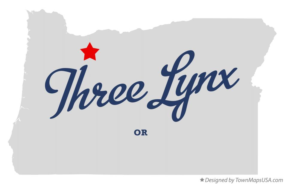 Map of Three Lynx Oregon OR