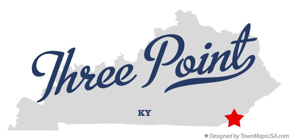Map of Three Point Kentucky KY