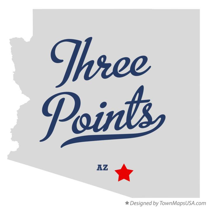 Map of Three Points Arizona AZ