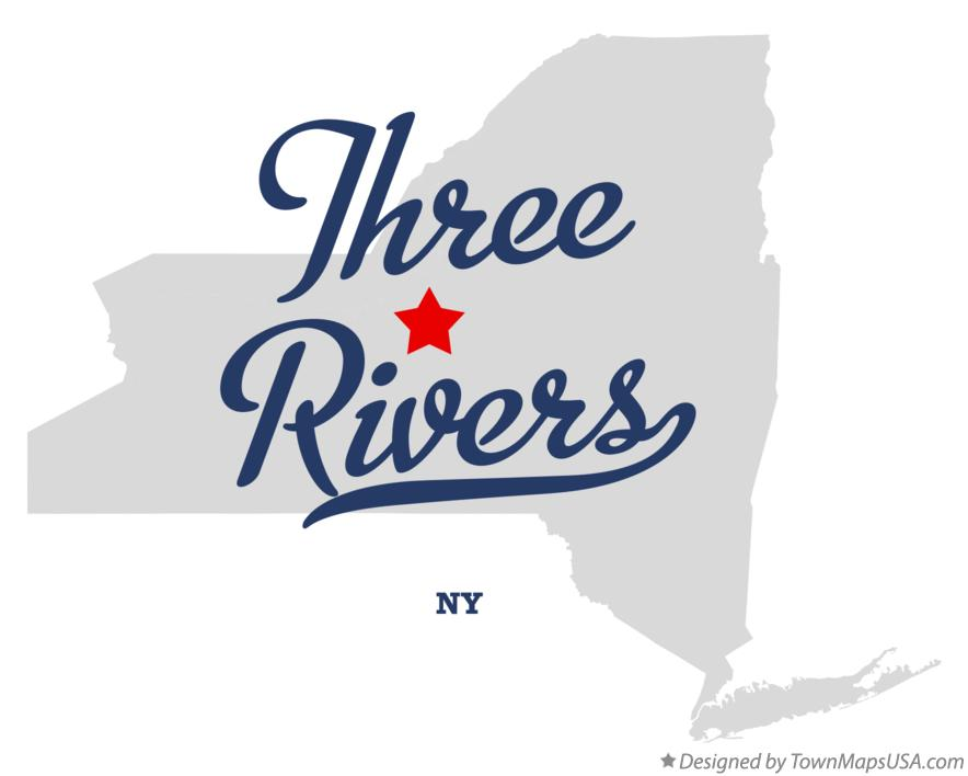 Map of Three Rivers New York NY